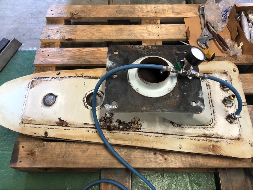 クリーニング工場 蒸気釜修理