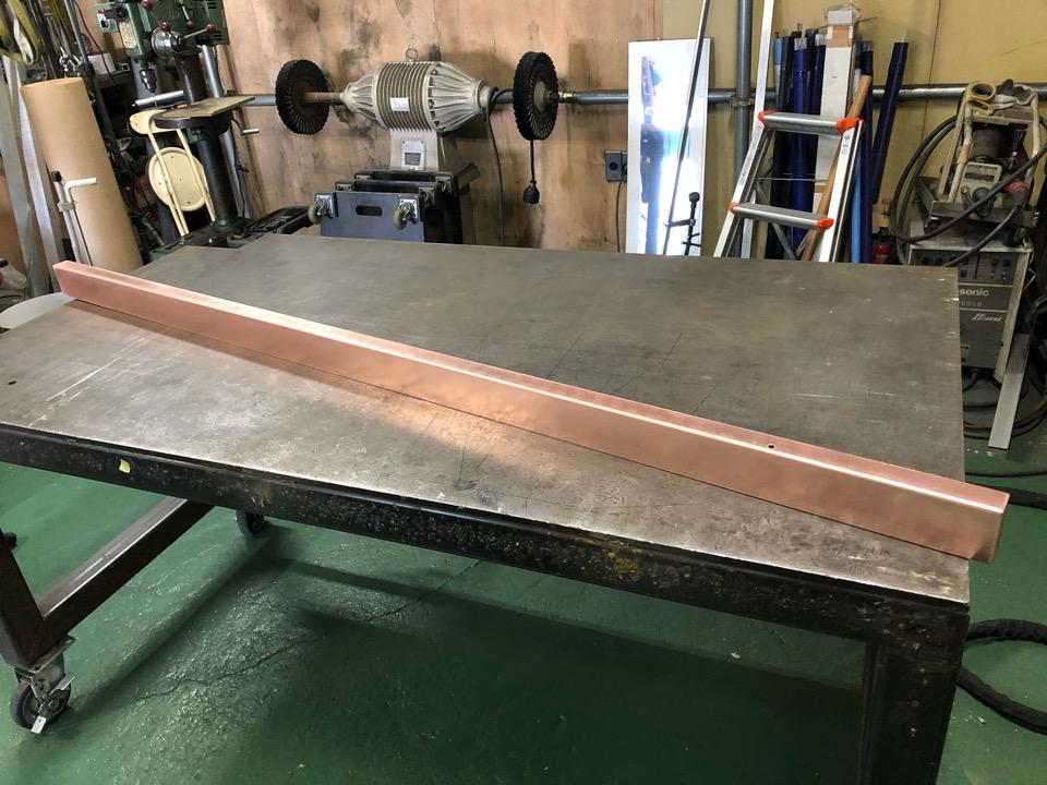 銅 照明カバー製作