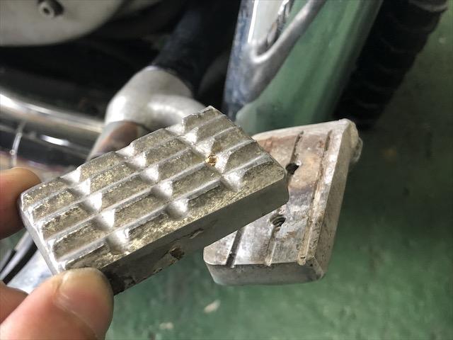 ハーレー ブレーキペダル修理