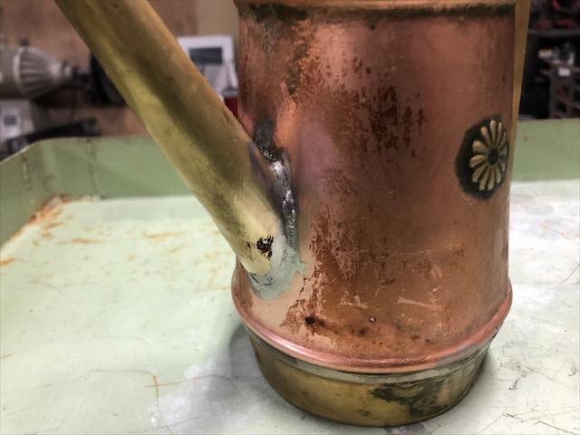 真鍮 オイルポット修理