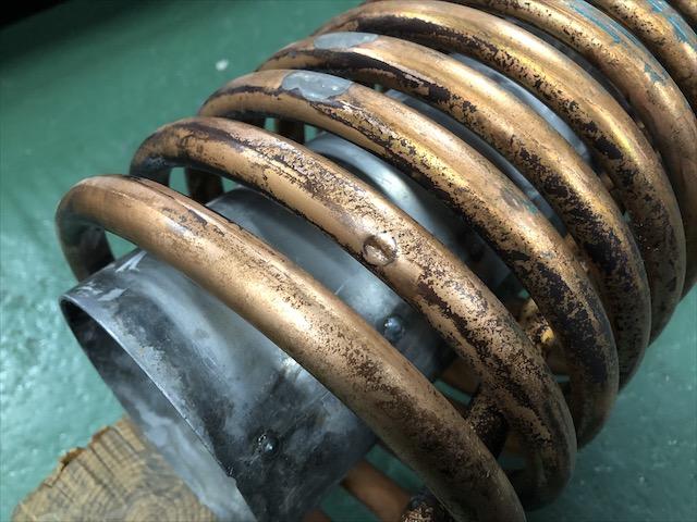 溶剤冷却器 ろう付け修理