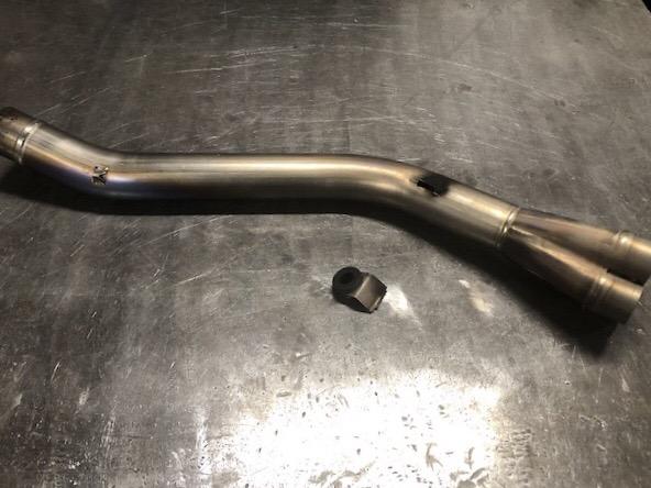 バイク チタンマフラー修理