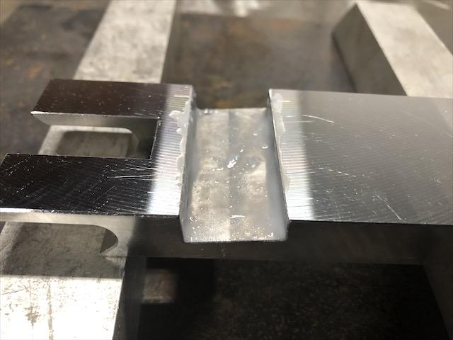 鉄と超硬板 ろう付け