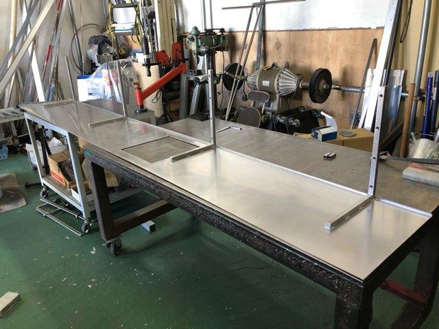 ステンレス キッチン棚板製作