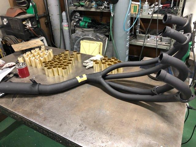 バイク用マフラー センサーフランジ溶接加工