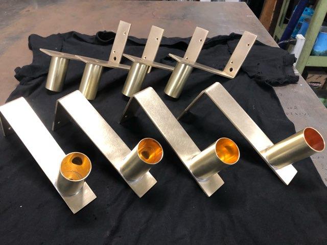 真鍮照明ブラケット類 製作