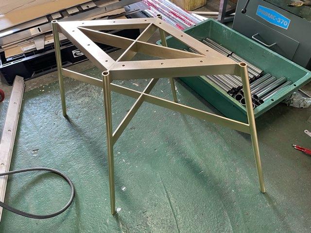真鍮テーブル脚 製作