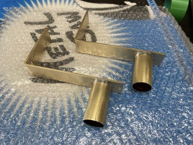 真鍮 L型照明ブラケット製作