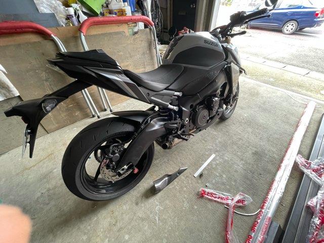 バイク用チタンマフラー再改造