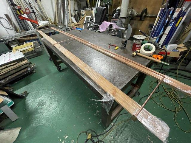 銅 吊り下げステー製作