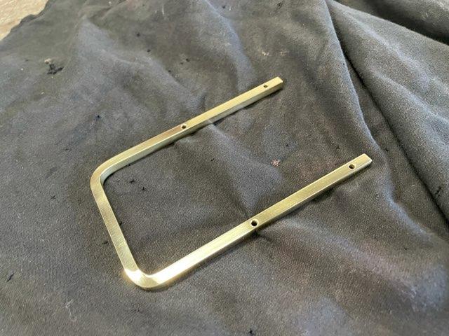 真鍮 コの字取手 製作
